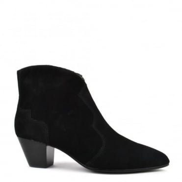 Hurrican Black Suede Ankle Boot