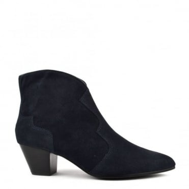 Hurricane Midnight 'Blue'  Suede Ankle Boot