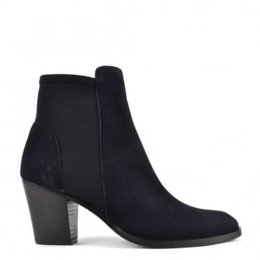 Elastic City Navy Stretch Ankle Boot