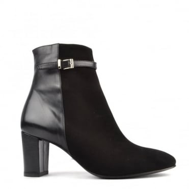Two Time Black Heeled Boot