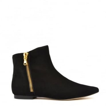 Twin Set Black Suede Ankle Boot