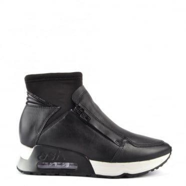 Lux Black Leather Trainer