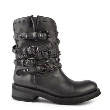 Tempt Black Studded Boot