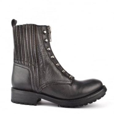 Rachel Black Leather Boot
