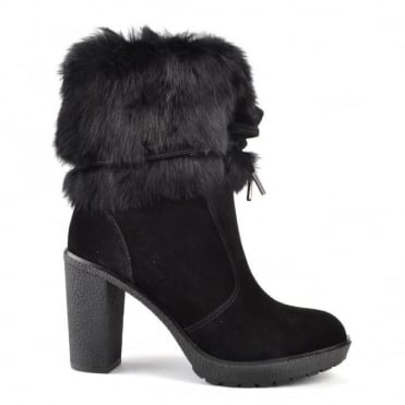 Hawthorne Black Suede Ankle Boot