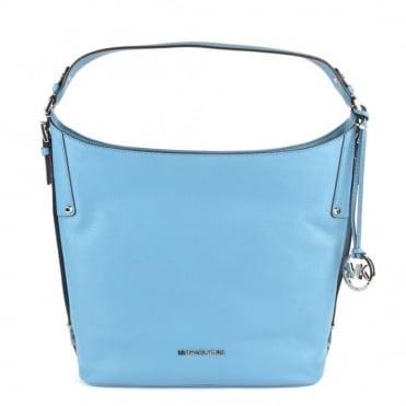 Bedford Sky Grained Large Shoulder Bag