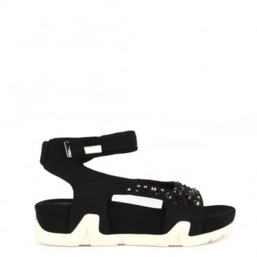 Osaka Black Flat Sandal