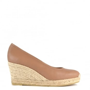 Venus Taupe Wedge Espadrille Pump