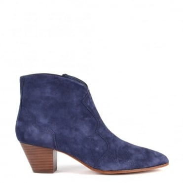 Hurrican Navy Suede Ankle Boot