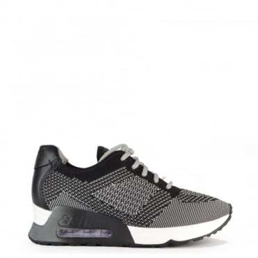Lucky Knit Marble and Black Trainer