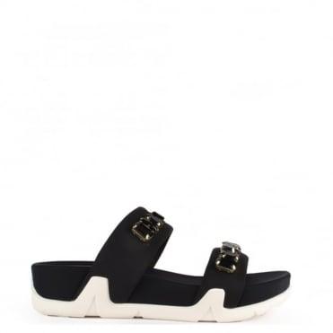 Oman Black Flatform Sandal