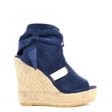 Berti Blue Wedge Espadrille Sandal