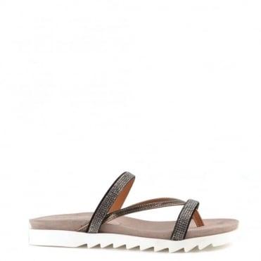 Glitzy Canna Flat Sandal