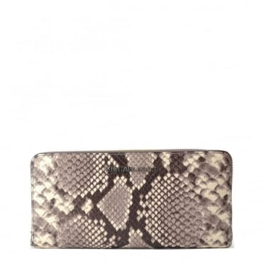 Bedford Natural Python Leather Continental Wallet