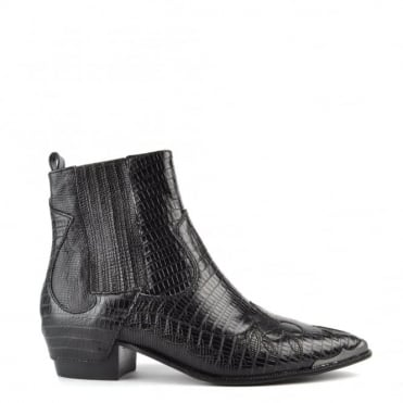 Liv Black Pointed Ankle Boot