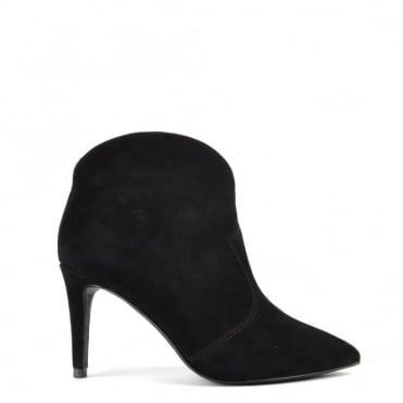Capture Black Suede Heeled Boot