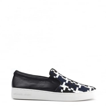 Keaton Black and Navy Woven Slip On