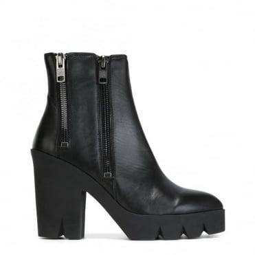 Trouble Black Platform Boot