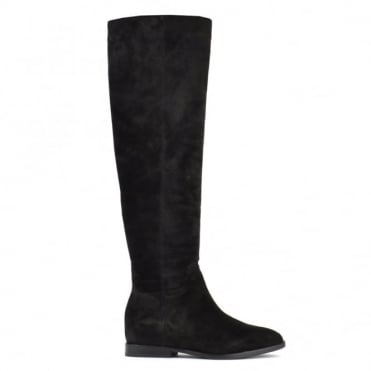 Jess Black Suede Knee High Boot