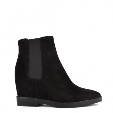 Gong Black Suede Ankle Boot