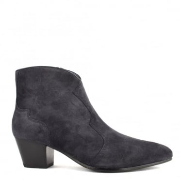 Hurrican Midnight Blue Suede Ankle Boot