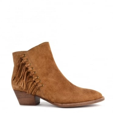 Lenny Russet 'Tan' Suede Fringed Boot