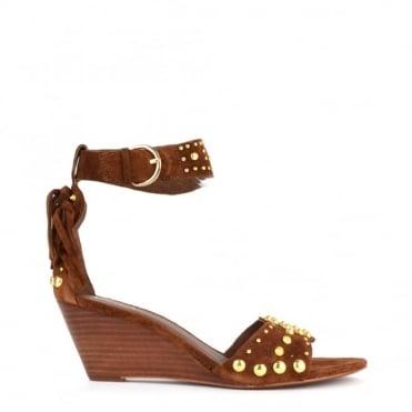 Dido Sigaro 'Brown' Suede Wedge Sandal