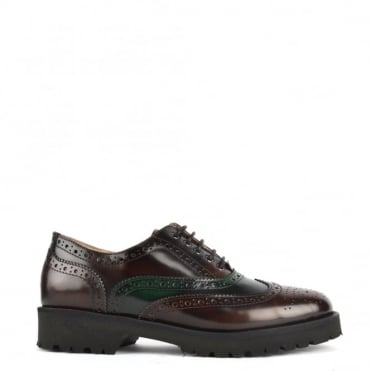 Aristo Brown & Green Lace Up Brogues