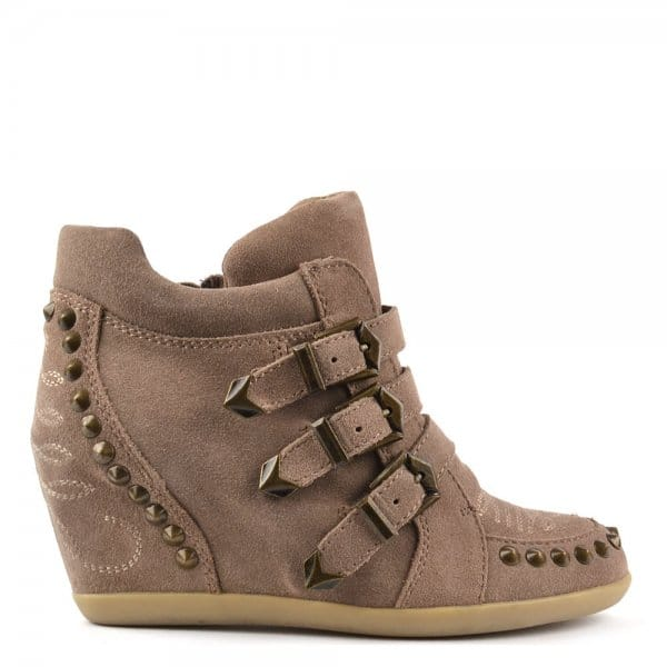 Ash Bobos Topo Suede Studded Wedge Trainer