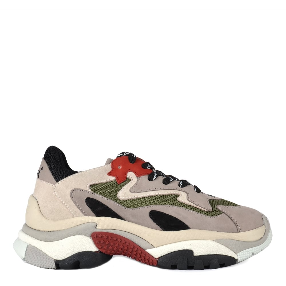 7d61dad91255 Ash Footwear Addict Grey and Red Trainer