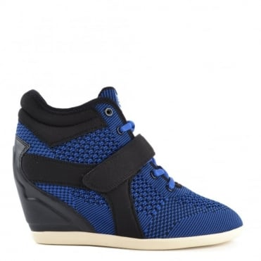 Bebop Knit Saphir Blue and Black Neoprene Trainer