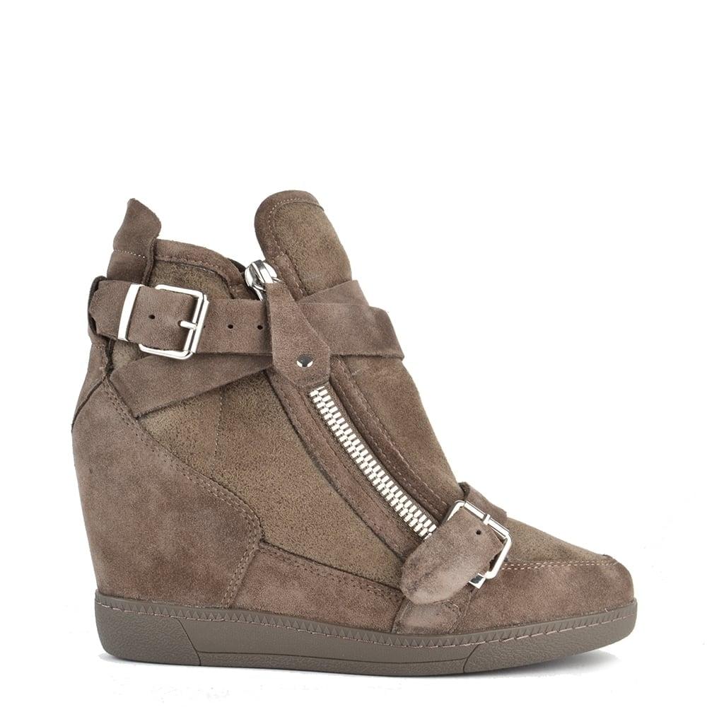 41a2fe1d2ac44 Ash Footwear Beluga Topo Suede Wedge Trainer