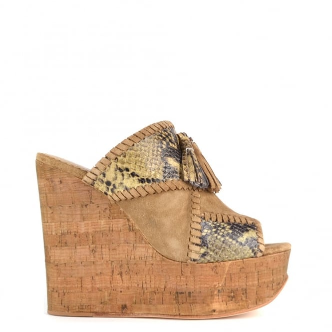 Ash Footwear Blondie Bis Python and Wilde Wedge Sandal