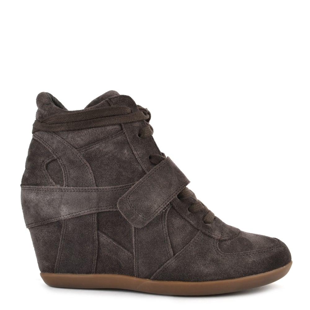 acfebd7ac674 Ash Footwear Bowie Bis Bistro Suede Wedge Trainer