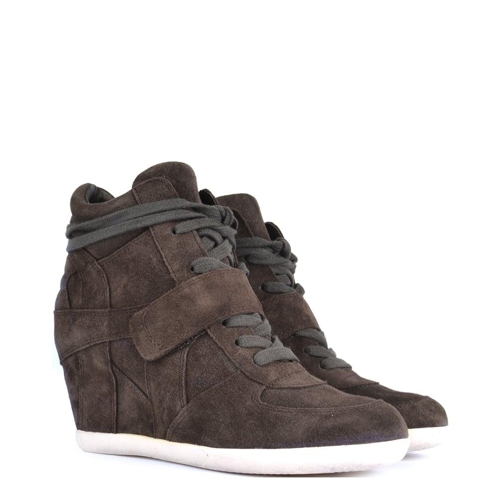 a082b2f6f2ea1 Ash Footwear Bowie Bistro  Brown  Suede Wedge Trainer - Shop Online Now