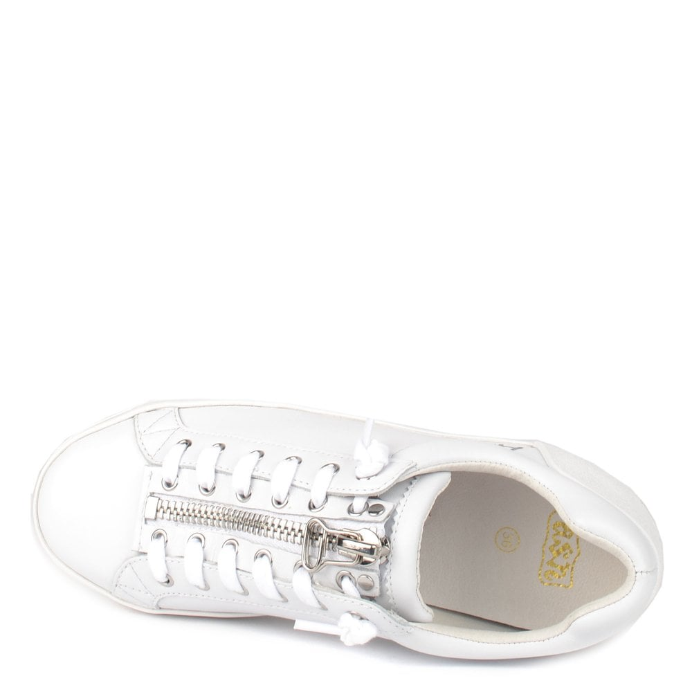 07d9037d7675 Ash Buzz White Leather Platform Trainer