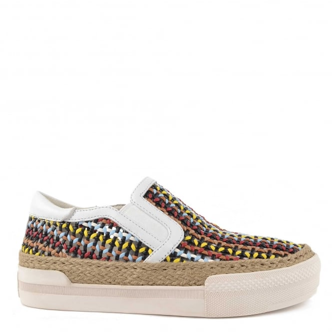 Ash Footwear Cali Multicoloured Woven Slip On Trainer