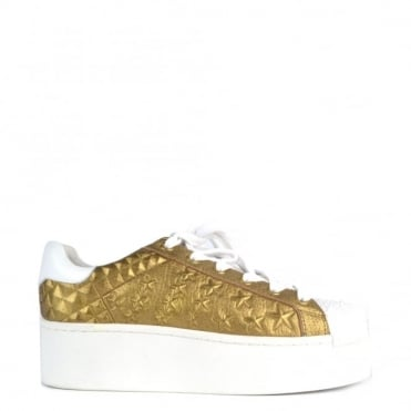 Chicklet Gold Star Embossed Trainer