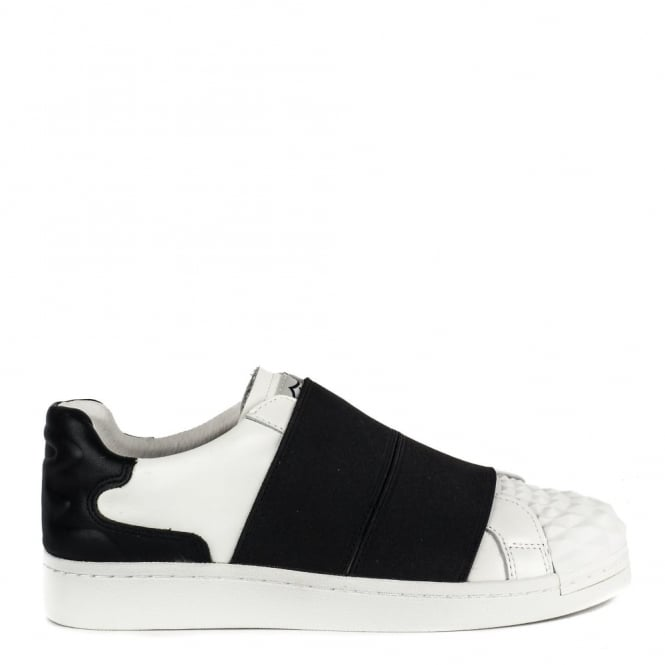 Ash Footwear Clip Black and White Leather Trainer