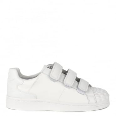 Club White Leather Velcro Trainer