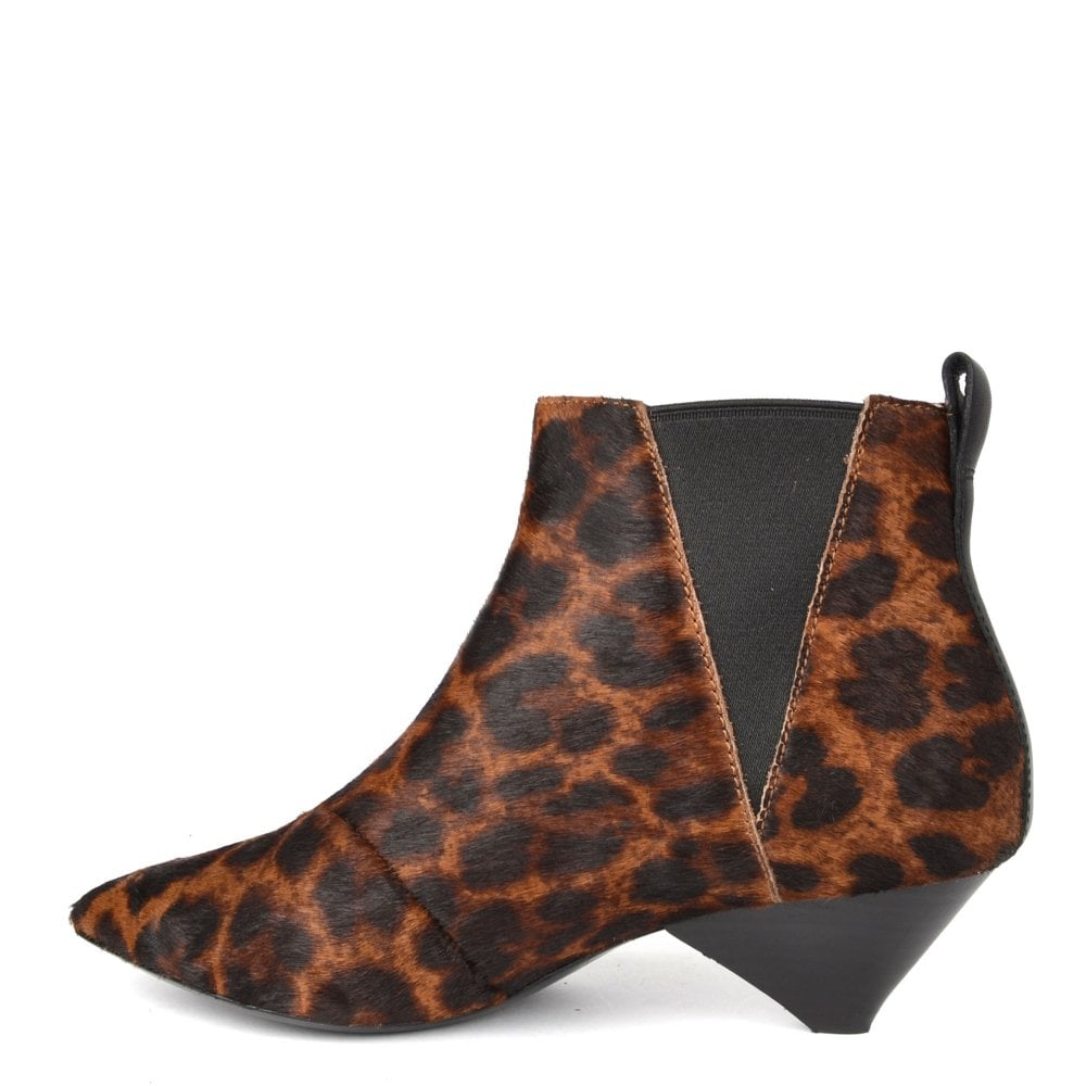 9191facf67967 Ash Cosmos Leopard Print Pony Hair Ankle Boot