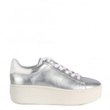 Cult Silver and White Trainer