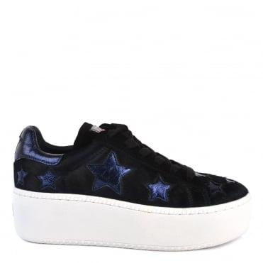 Cult Star Black Pony Hair and Midnight Trainer