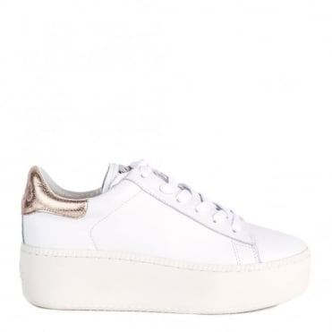 Cult White and Metallic Pink Trainer
