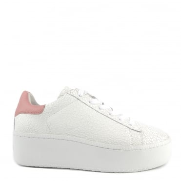 Cult White Cracked and Blush Pink Trainer