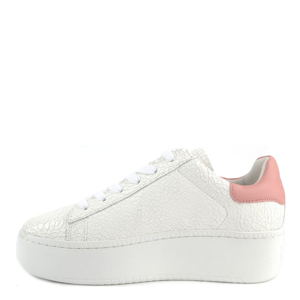 d02c9ec54f3d Ash Cult White Cracked and Blush Pink Trainer
