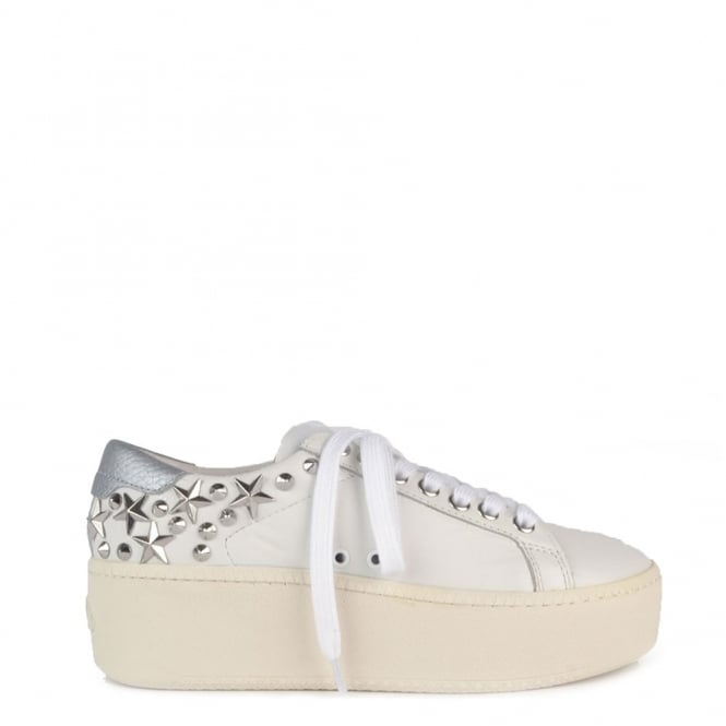 Ash Footwear Cyber White Studded Trainer