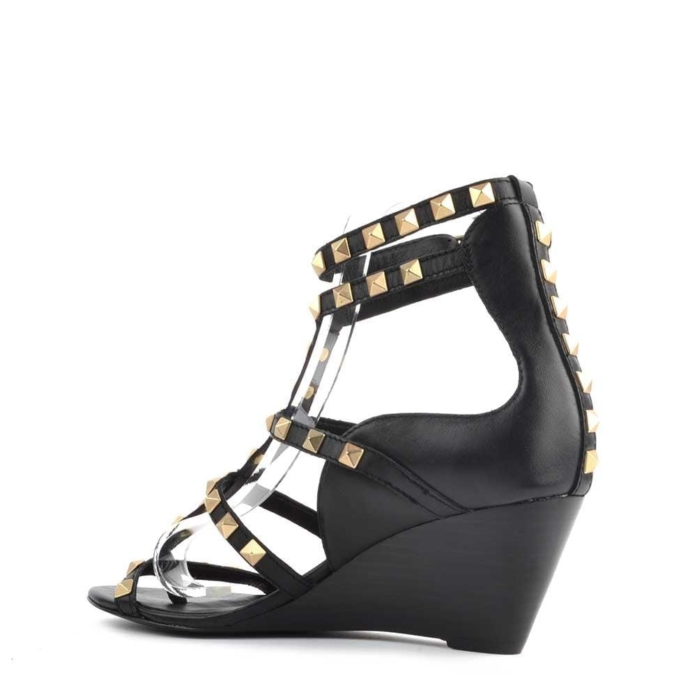 23ca99a25385 Ash Dafne Black Studded Wedge Sandal