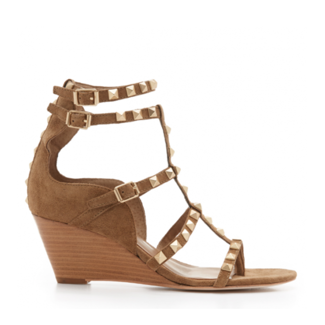 Ash Footwear Dafne Wilde Studded Wedge Sandal