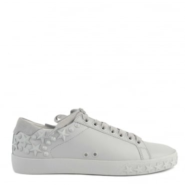 Dazed Pearl Grey Star Studded Trainer